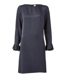 Favour graphite pure silk dress