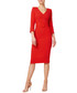 Fox red pure wool crepe pencil dress Sale - goat Sale