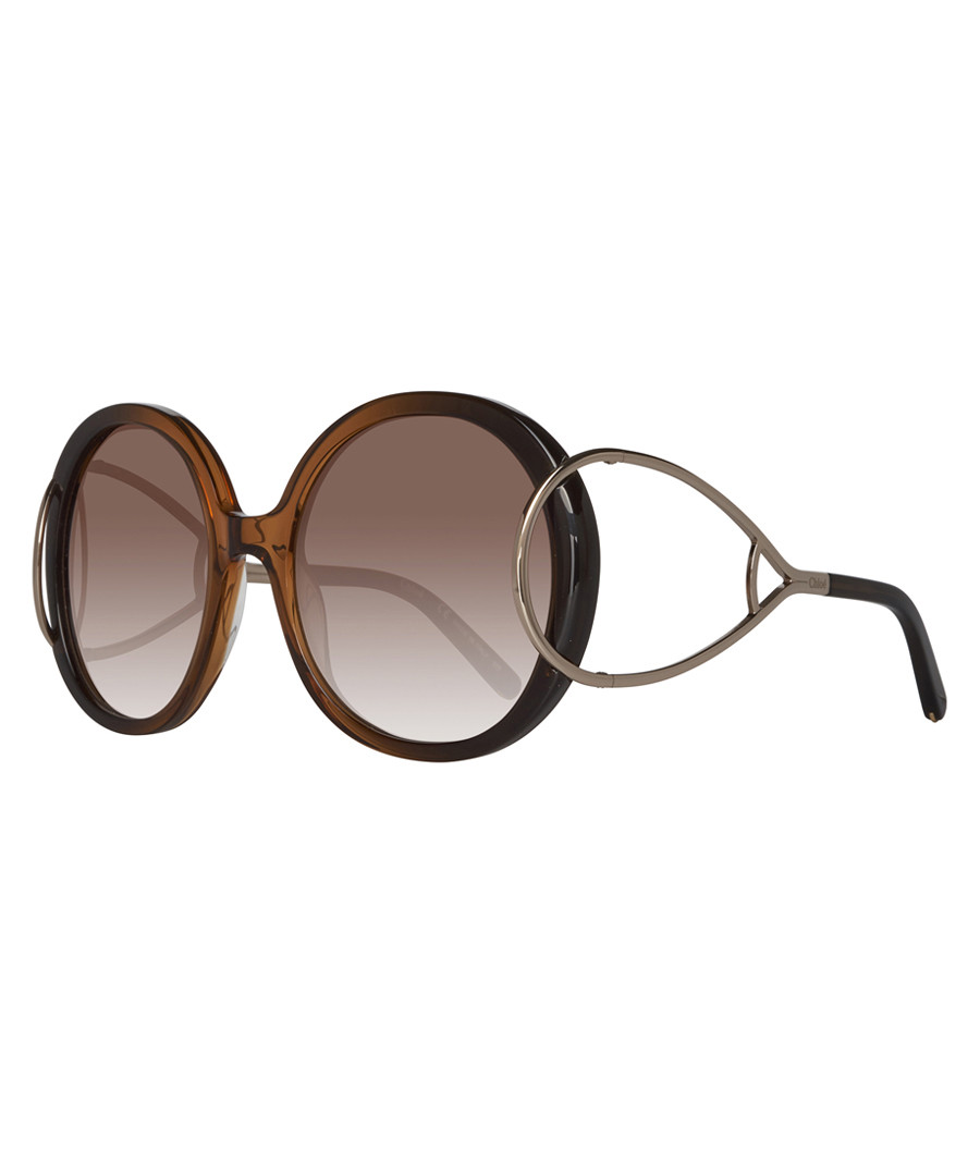 Brown round hoop sunglasses Sale - chloe