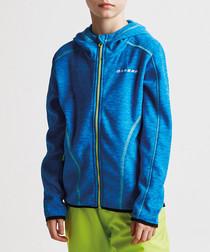 Blue zip-up hoodie