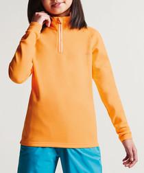 Orange zip-up fleece