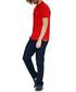 Red pure cotton polo shirt Sale - galvanni Sale