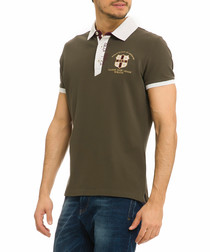 Olive night polo top