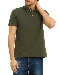 Olive night cotton polo shirt