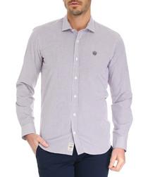 Purple pennant pure cotton shirt