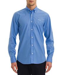 Light blue cotton blend shirt