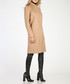 Camel wool blend knee length coat Sale - ISABEL BY ROZARANCIO Sale