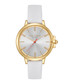 White & gold-tone leather watch Sale - ted baker Sale