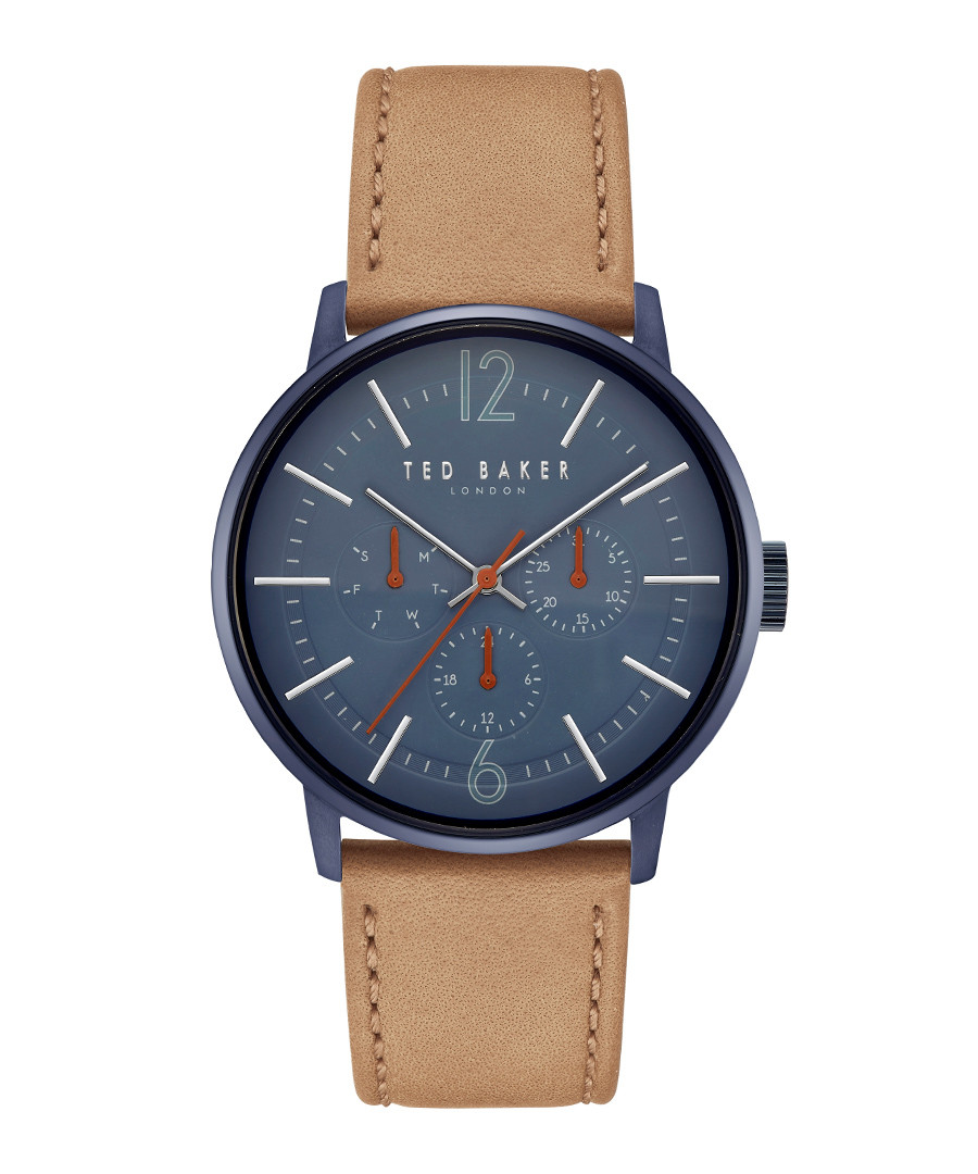 Navy & tan leather strap watch Sale - ted baker