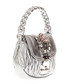 Metallic leather embellished shopper bag Sale - miu miu Sale