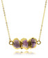 Purple amethyst gold-plated necklace Sale - fleur envy gaia Sale
