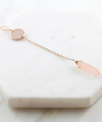 Pink rose gold chalcedony necklace