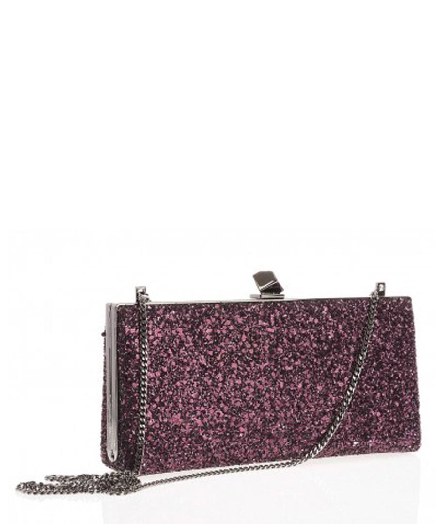 Celeste purple silk blend clutch bag Sale - jimmy choo