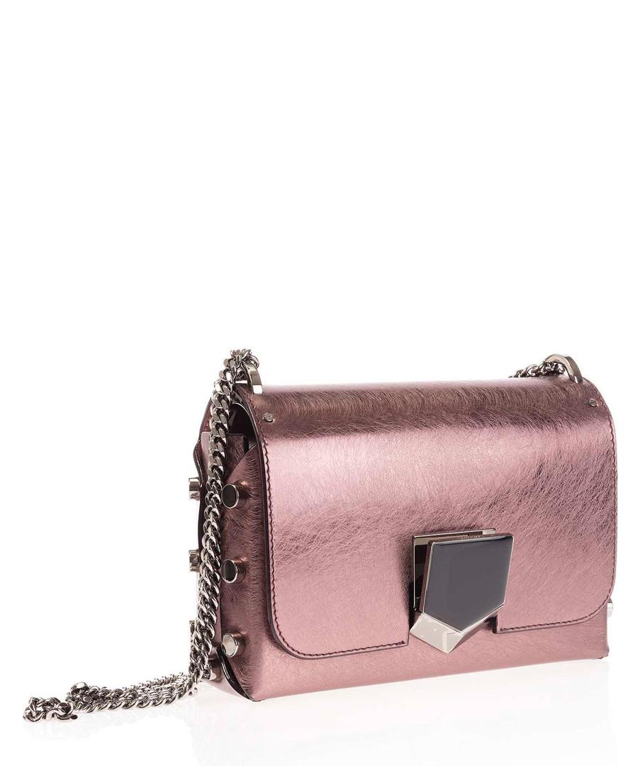 Lockett Petite rose leather crossbody Sale - jimmy choo