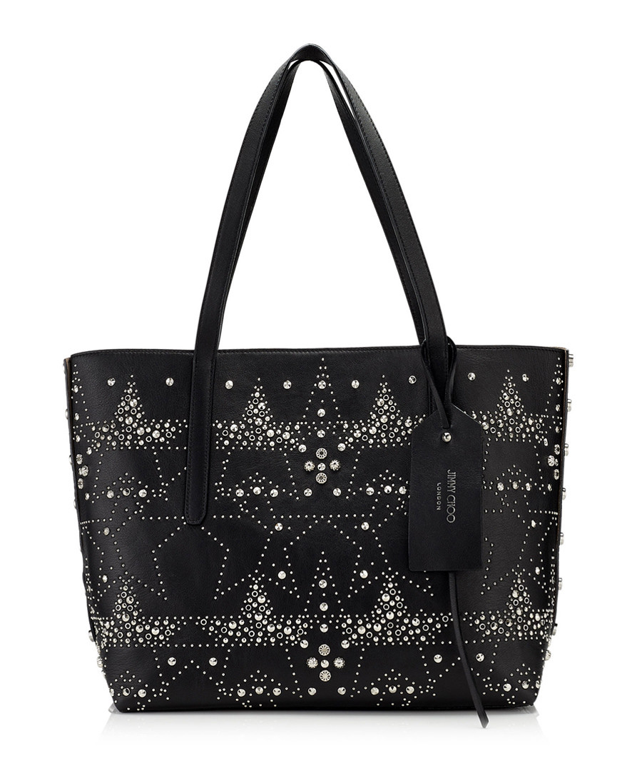Twist black leather star shoulder bag Sale - jimmy choo
