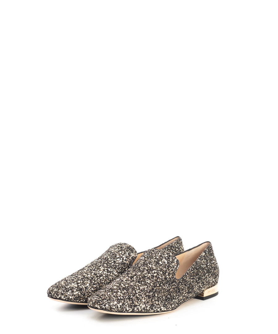 Jaida gold glitter loafers Sale - jimmy choo