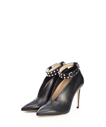 Lark black leather stiletto heels