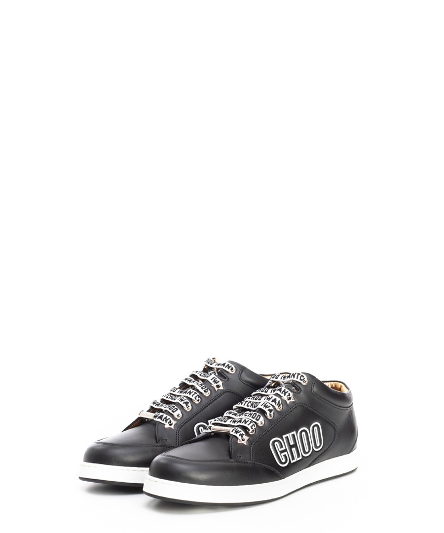 Miami black leather sneakers Sale - jimmy choo