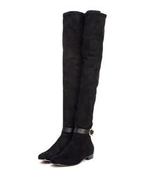 Myren black suede knee-high boots