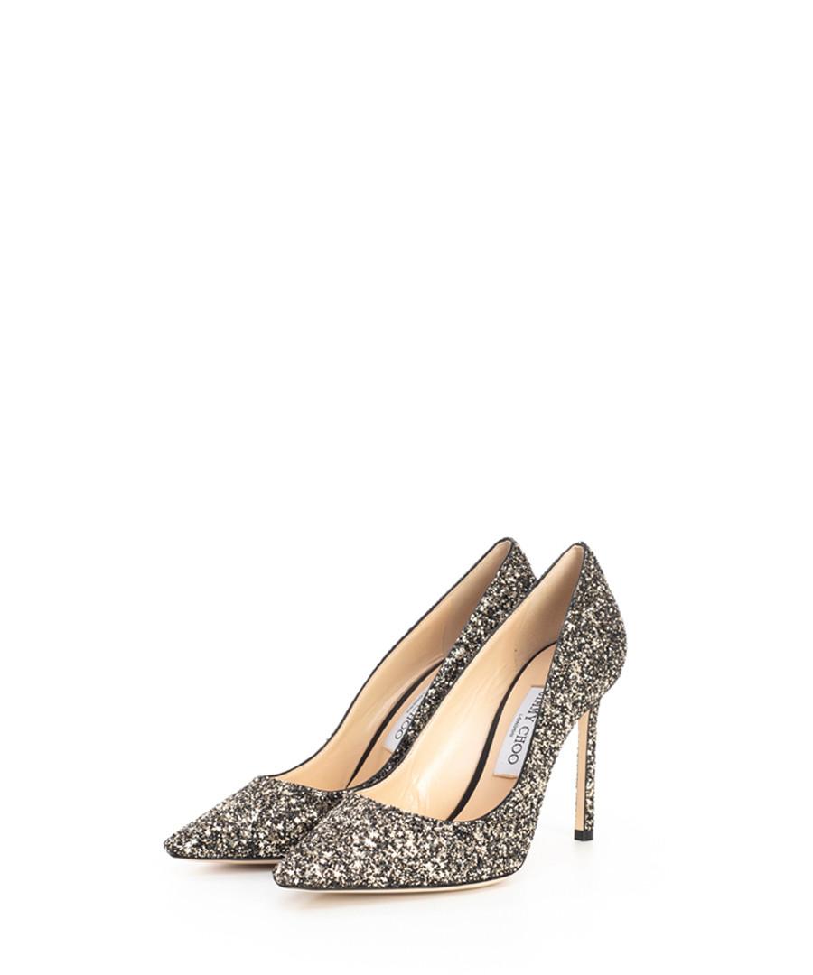 Romy gold glitter stiletto heels Sale - jimmy choo