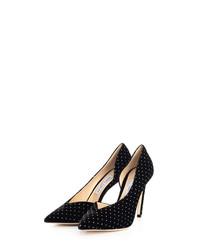 Sophia black velvet stiletto heels
