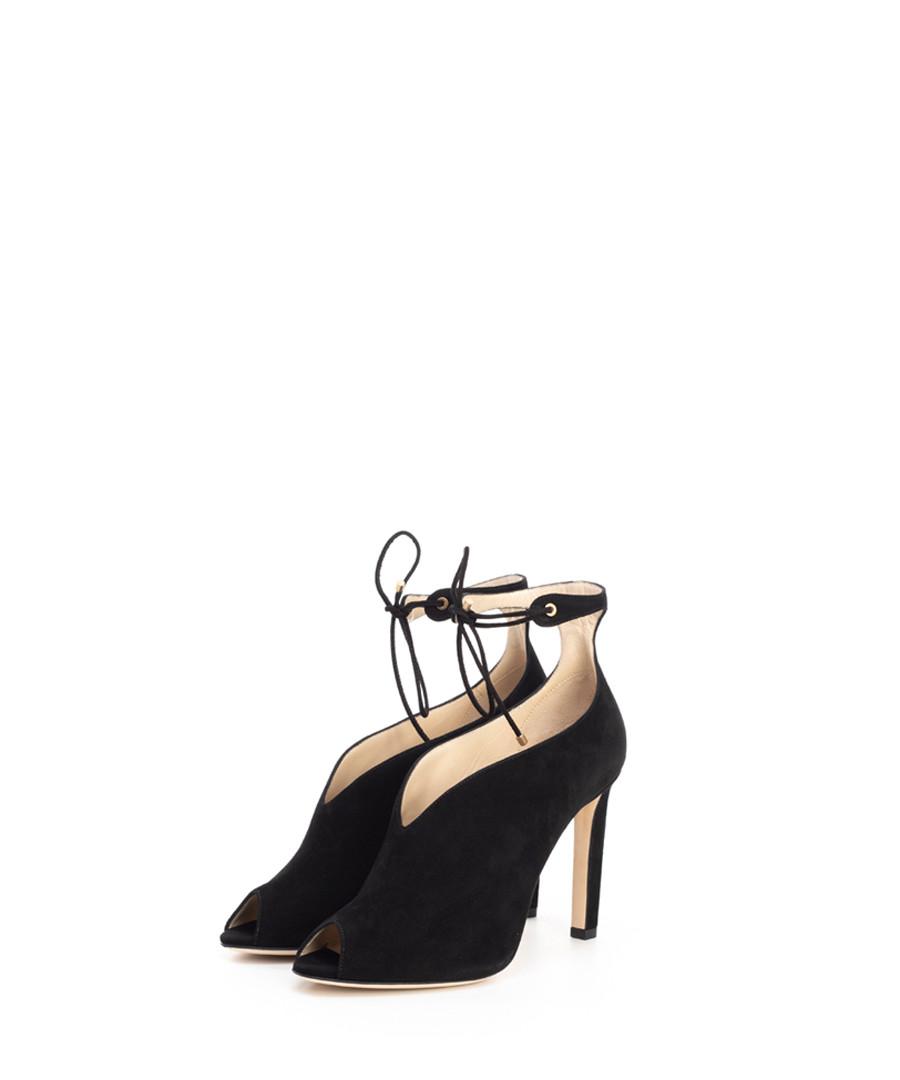Sayra black suede peeptoe heels Sale - jimmy choo