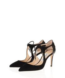 Vanessa black suede cut-out heels