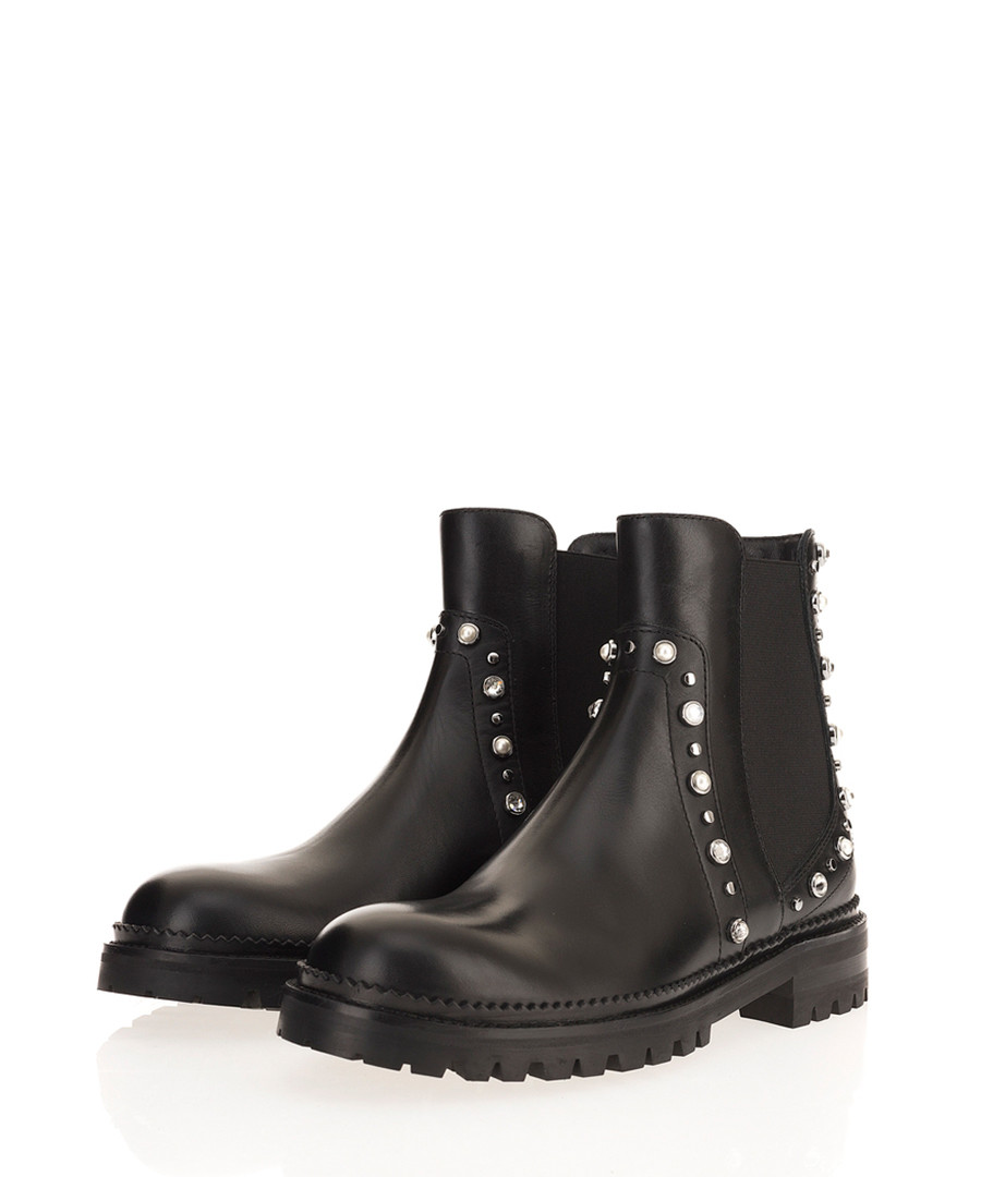 Burrow black leather Chelsea boots Sale - jimmy choo