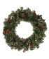 Green & champagne gold wreath 60cm Sale - Festive Sale