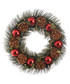 Red bauble & pine cone wreath 30cm Sale - Festive Sale