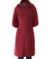 Burgundy wool long collared coat Sale - Ciriana Sale