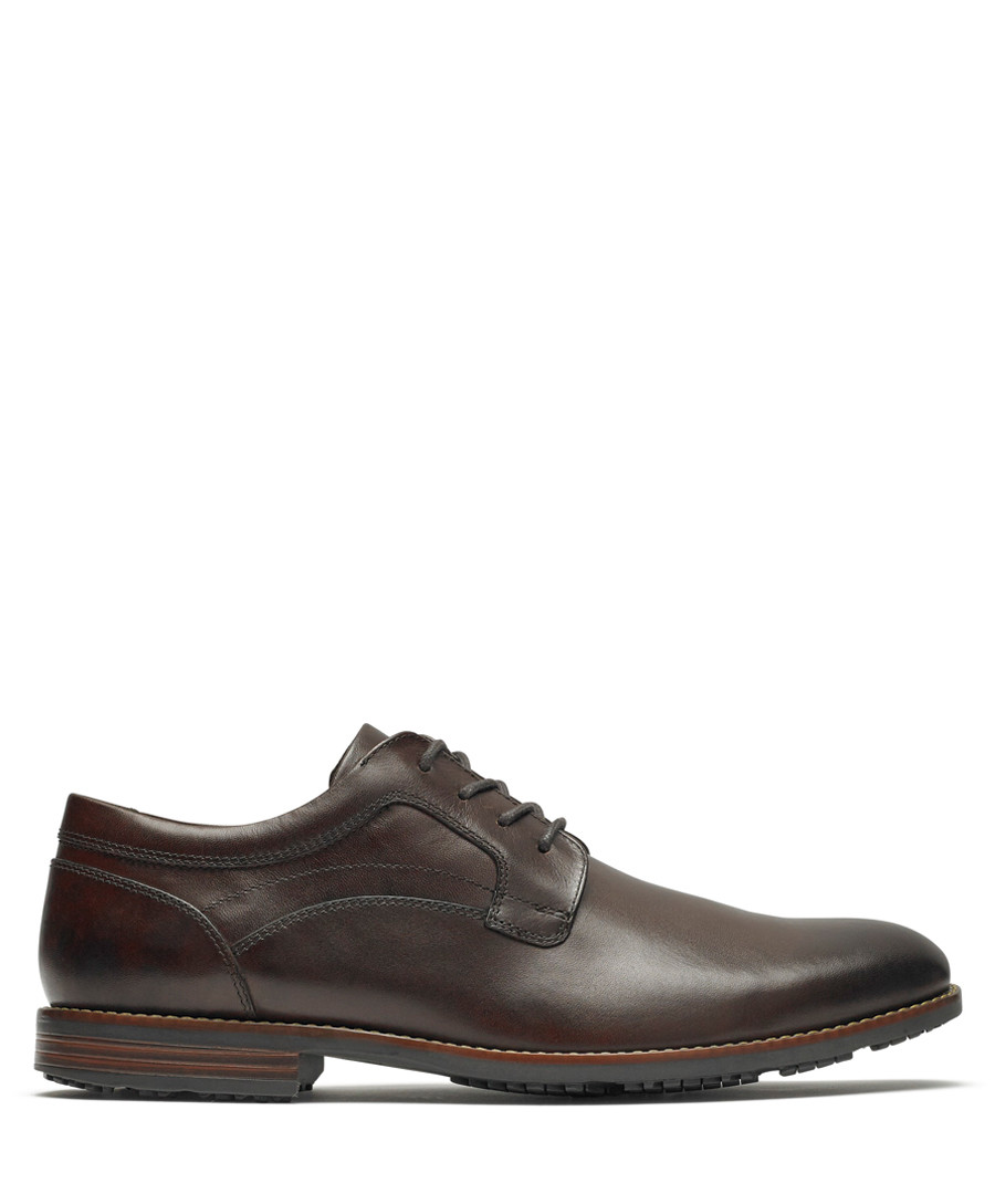 Brown leather Derby shoes Sale - rockport
