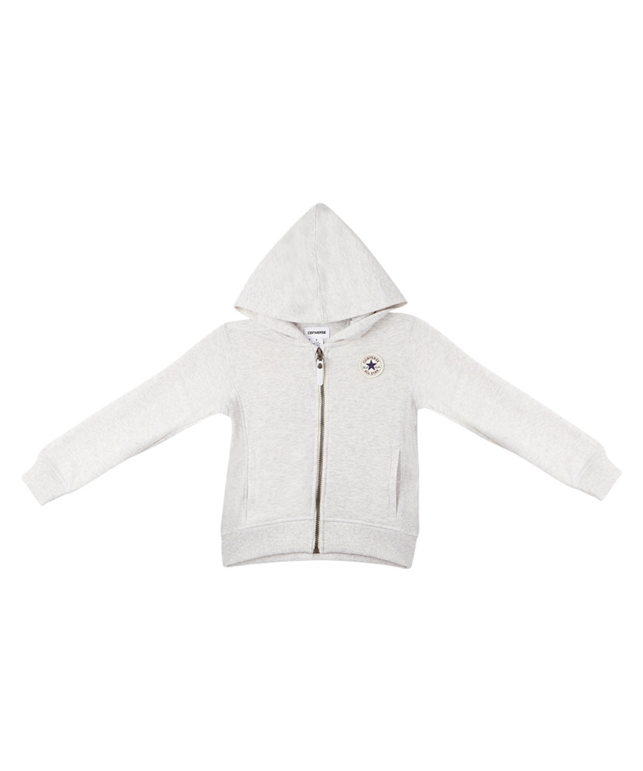 French Terry girls' grey zip-up hoodie Sale - Converse