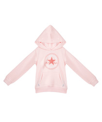 Chuck Patch girls' pink pullover hoodie