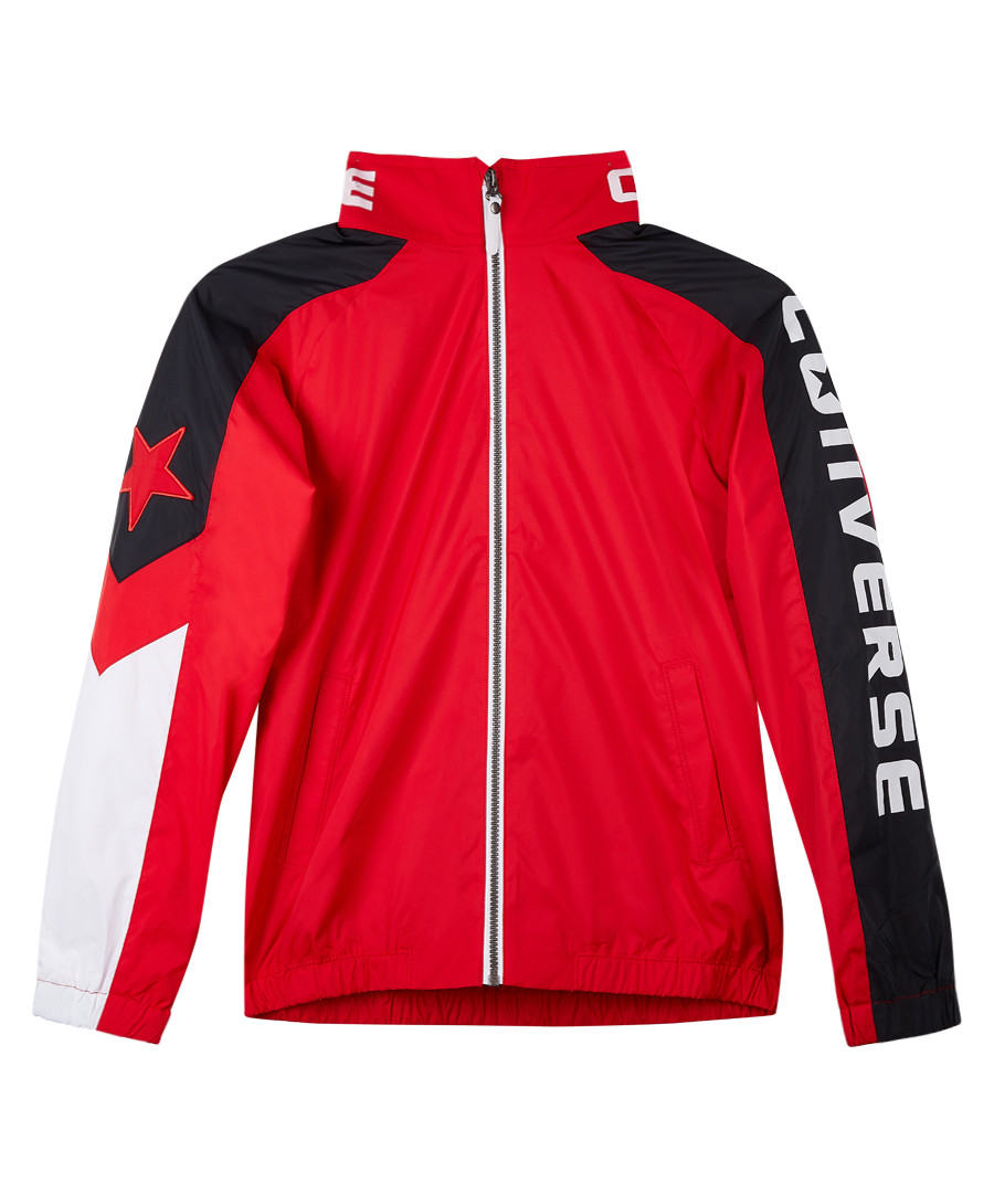 Boys' red & black sports bomber jacket Sale - Converse