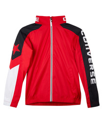 Boys' red & black sports bomber jacket