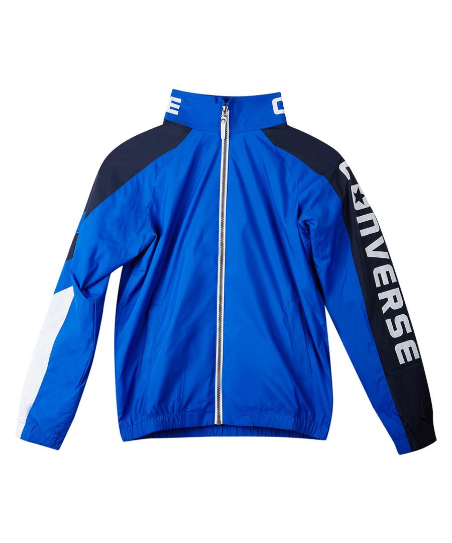 Boys' blue & black sports bomber jacket Sale - Converse