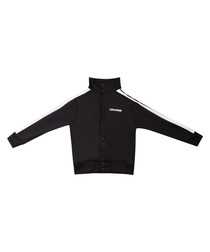 Boys' black sports bomber jacket