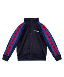 Boys' navy sports bomber jacket
