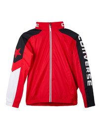 Teen boys' red sports bomber jacket