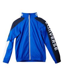 Teen boys' blue sports bomber jacket