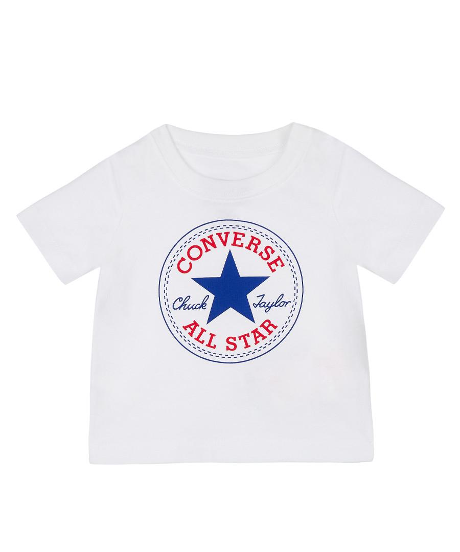 White pure cotton T-shirt Sale - Converse