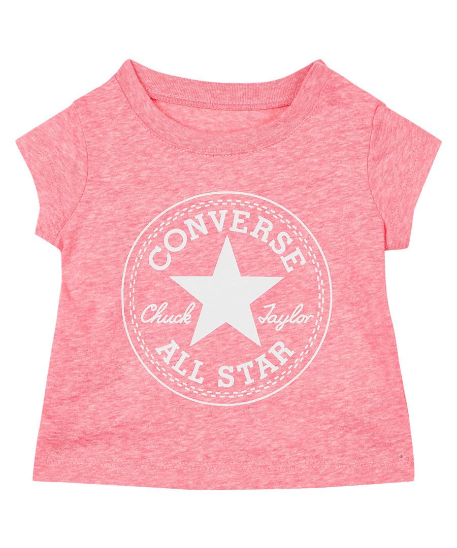 Girls' pink & white print T-shirt Sale - Converse