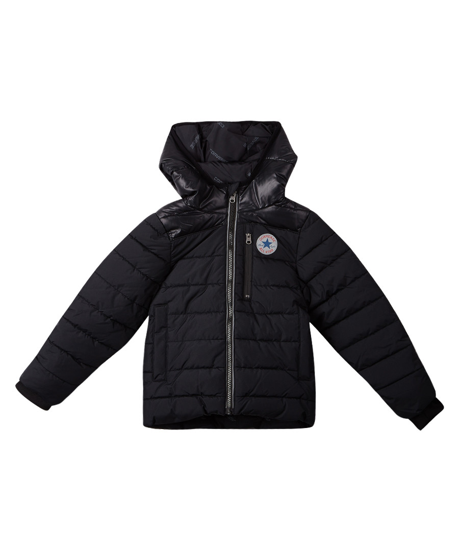 Boys' black quilted puffer jacket Sale - Converse