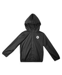Teen boys' black zip-up jacket