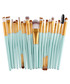 20pc turquoise make up brush set Sale - dynergy Sale