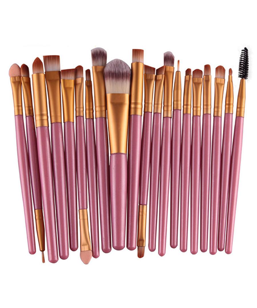 20pc Pink makeup brush set Sale - dynergy