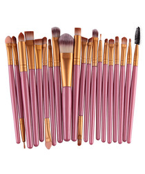 20pc Pink makeup brush set