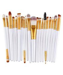 20pc white make up brush set