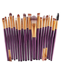 20pc Plum makeup brush set